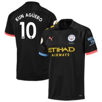 Sergio Ag-ero Manchester City Puma 2019/20 Away Replica Player Jersey - Black