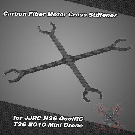 3k Carbon Fiber Tail Blade - CNC 3K Carbon Fiber Motor Cross Stiffener for JJR/C H36 GoolRC T36 E010 Mini Drone