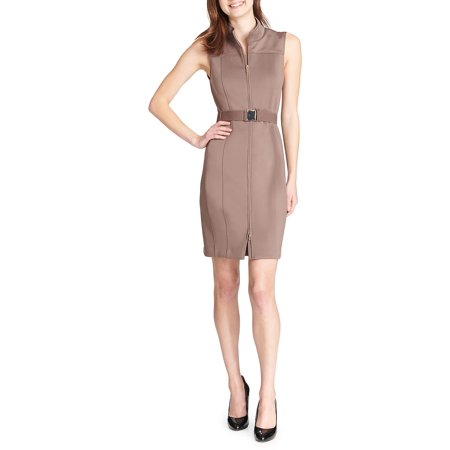 79ad3dda Tommy Hilfiger - Belted Scuba Zip Sheath Dress - Walmart.com