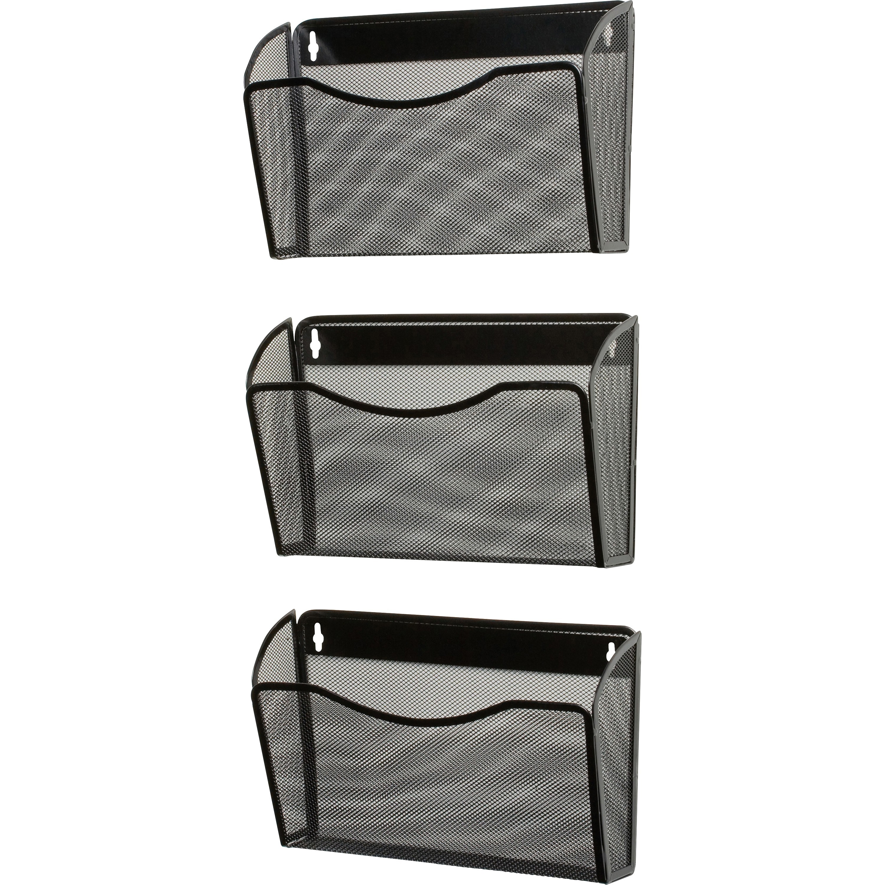 Rolodex, ROL21961, Expressions Mesh 3-Pack Hanging Wall Files, 1 Each, Black