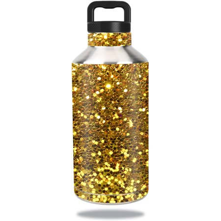 Skin For Ozark Trail Water Bottle 64 oz – Gold Dazzle | MightySkins Protective, Durable, and Unique Vinyl Decal wrap cover | Easy To Apply, Remove, and Change Styles | Made in the USA](Gold Bottles)