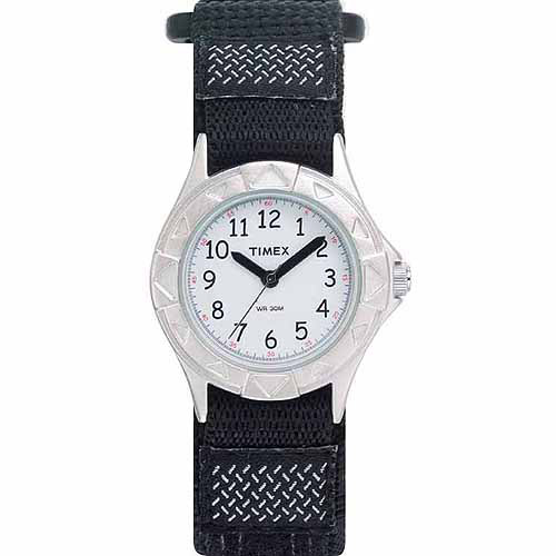 Timex Kids My First Outdoor Analog Watch, Black Fast Wrap Velcro Strap