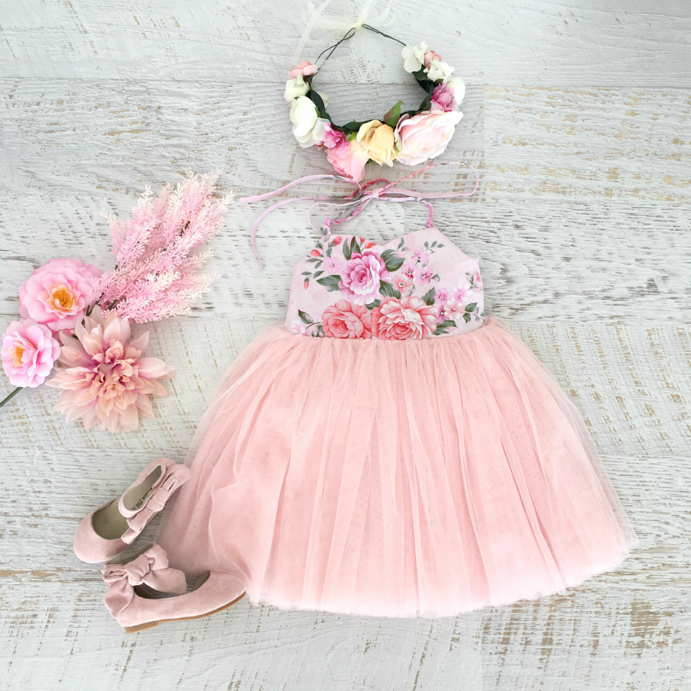 Toddler Kids Baby Girl Summer Princess Denim Tulle Tutu Party Dress Clothes 2-7Y