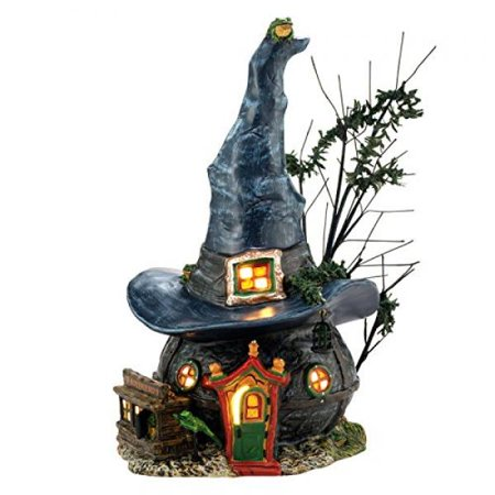 department 56 snow village halloween toads and frogs witchcraft haunt lit house 591 inch