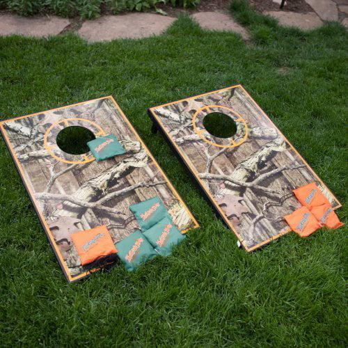 Mossy Oak Camo Tailgate Toss Cornhole Set