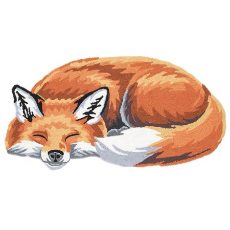 Sleeping Fox Hand-Hooked Accent Rug - Exclusive From What On Earth