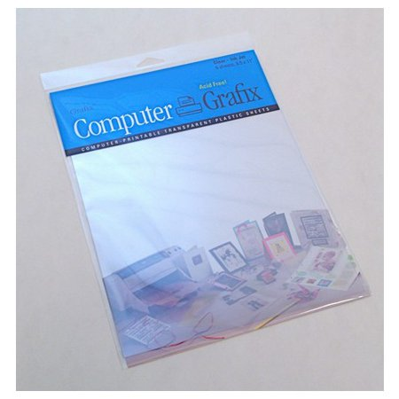 Inkjet Shrink Film (Grafix Clear Inkjet Film, 8-1/2-Inch by 11-Inch, 50-Pack)