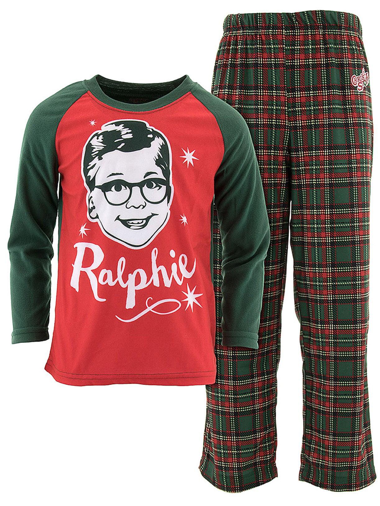 Christmas Story Grinning Ralphie Boys' Pajamas