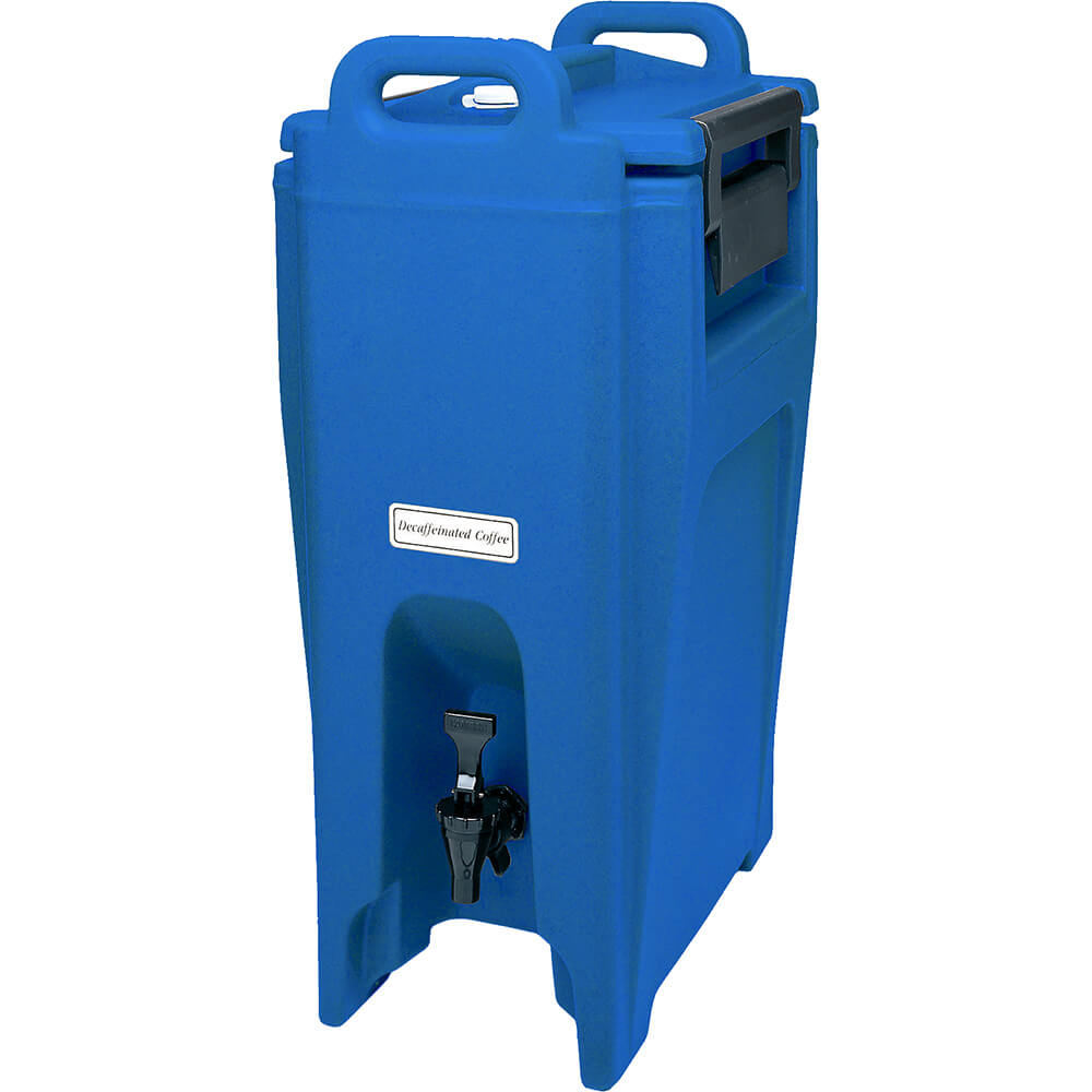 Cambro 5.25 Gal. Insulated Beverage Dispenser, Ultra Camtainer, Navy Blue, UC500-186