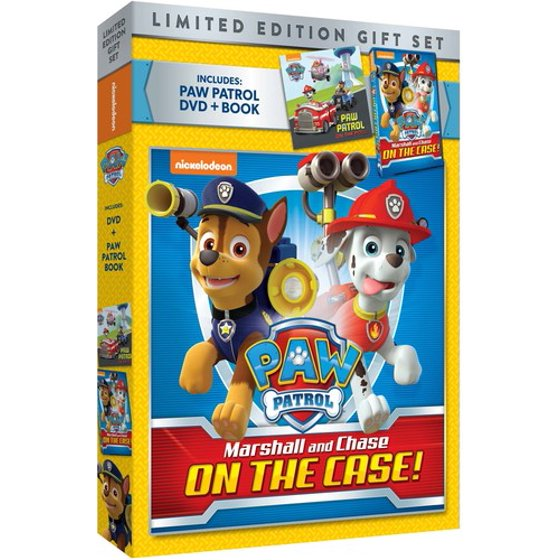 Paw Patrol: Marshall & Chase On The Case! (Limited Edition Gift Set)  (Walmart Exclusive) (DVD + Book)