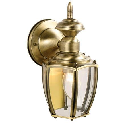 Design House 501478 Jackson 1-Light Indoor/Outdoor Wall Light, Antique Brass