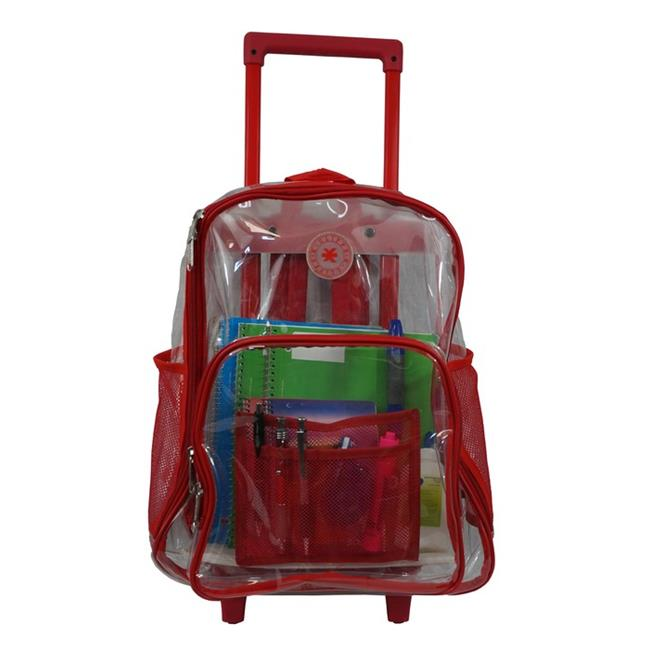 Harvest LM214 Rec Wheeled Deluxe 17 inch See-through Clear 0. 5 mm.  PVC Backpack