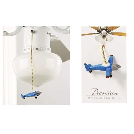 Giftcraft Airplane Ceiling Fan Pull Blue Walmart Com