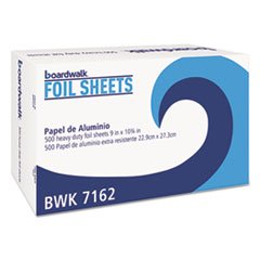 - BOARDWALK BWK7162BX Pop-Up Aluminum Foil Wrap Sheets, 9 x 10 3/4, Silver, 500/Box