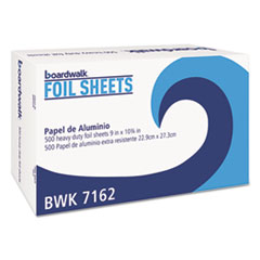 BOARDWALK BWK7162BX Pop-Up Aluminum Foil Wrap Sheets, 9 x 10 3/4, Silver, 500/Box