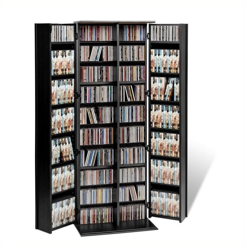 "Atlin Designs 64"" Large Style Deluxe Media Cabinet in Black"