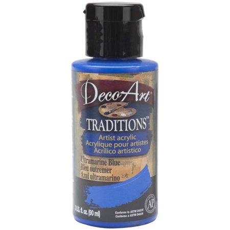 Deco Art Traditions Acrylics 3oz-Ultramarine Blue