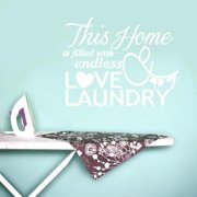 Sweetums Endless Love and Laundry Decor Wall Decal (18 inches x 14 inches)