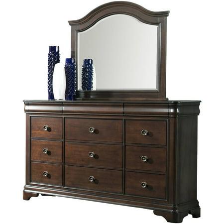 Tropical Island Dresser Mirror - Picket House Furnishings Conley Cherry Dresser and Mirror Set