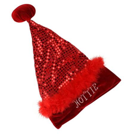 Small Santa Hats (Northlight Pink and Black Leopard Print Unisex Adult Christmas Santa Hat Costume Accessory -)
