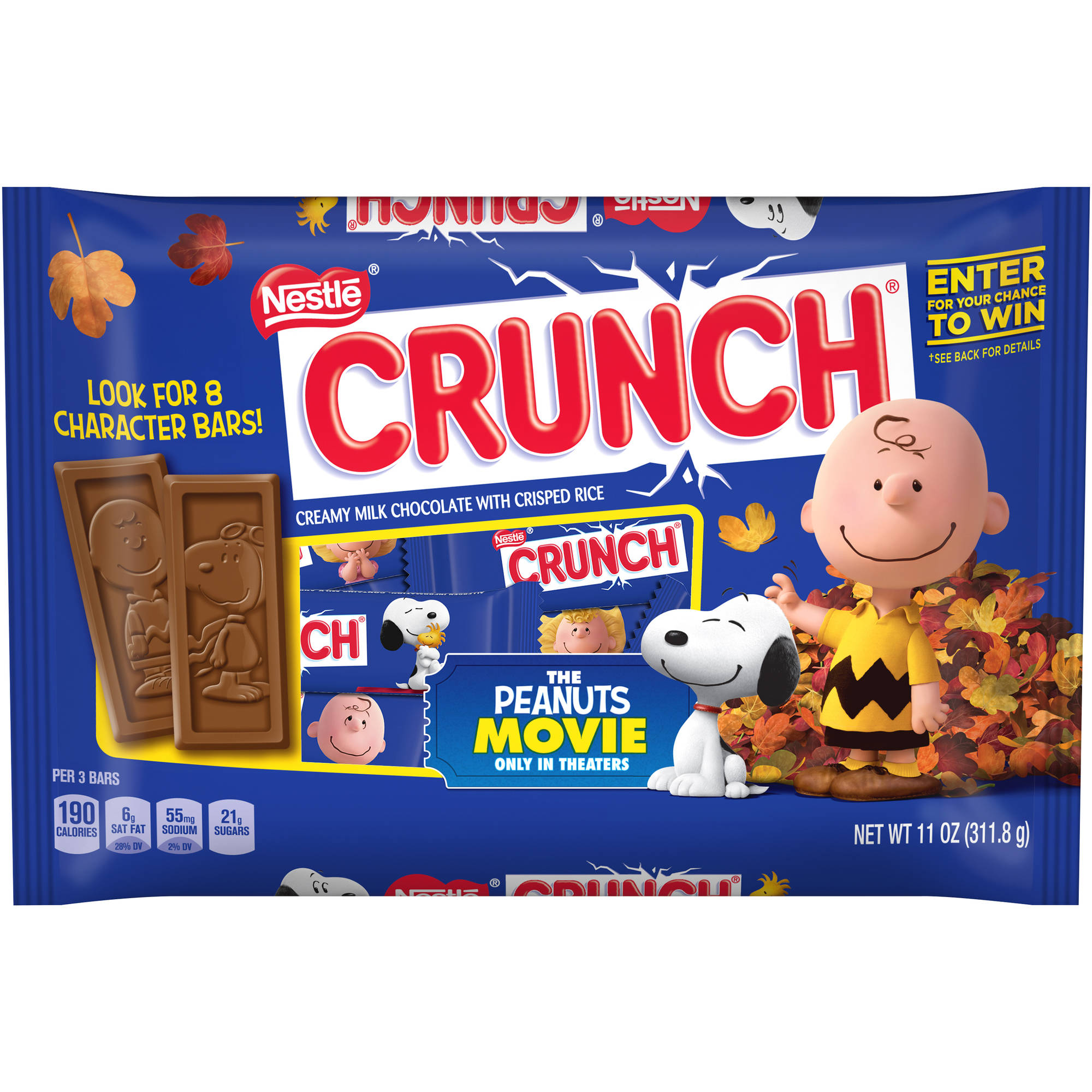 Nestle Crunch Fun Size Halloween Candy Bars, 11 oz