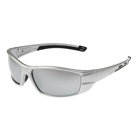 Foster Grant Men's Silver Mirrored Wrap Sunglasses (Wrap Sunglasses)