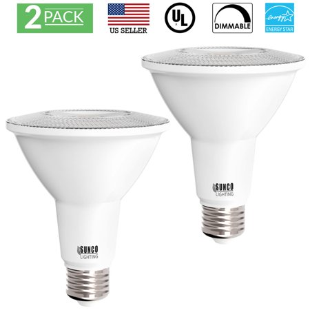 Sunco Lighting 10 Pack PAR30 LED Light Bulb 11 Watt (75W Equivalent) 3000K Kelvin Warm White, 850 Lumens, 25,000 Hours, Dimmable, Indoor / Outdoor, Flood, Accent, Highlight - UL & ENERGY STAR LISTED