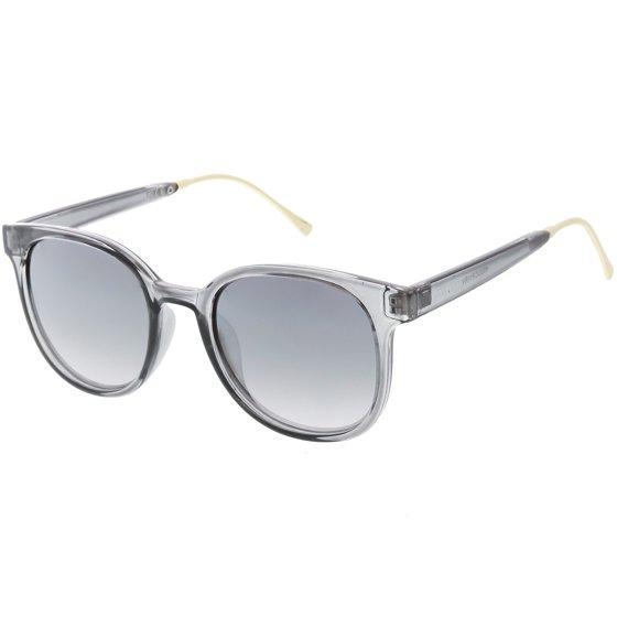 6e0cdda08cf52 sunglassLA - sunglassLA - Modern Translucent Horn Rimmed Sunglasses ...