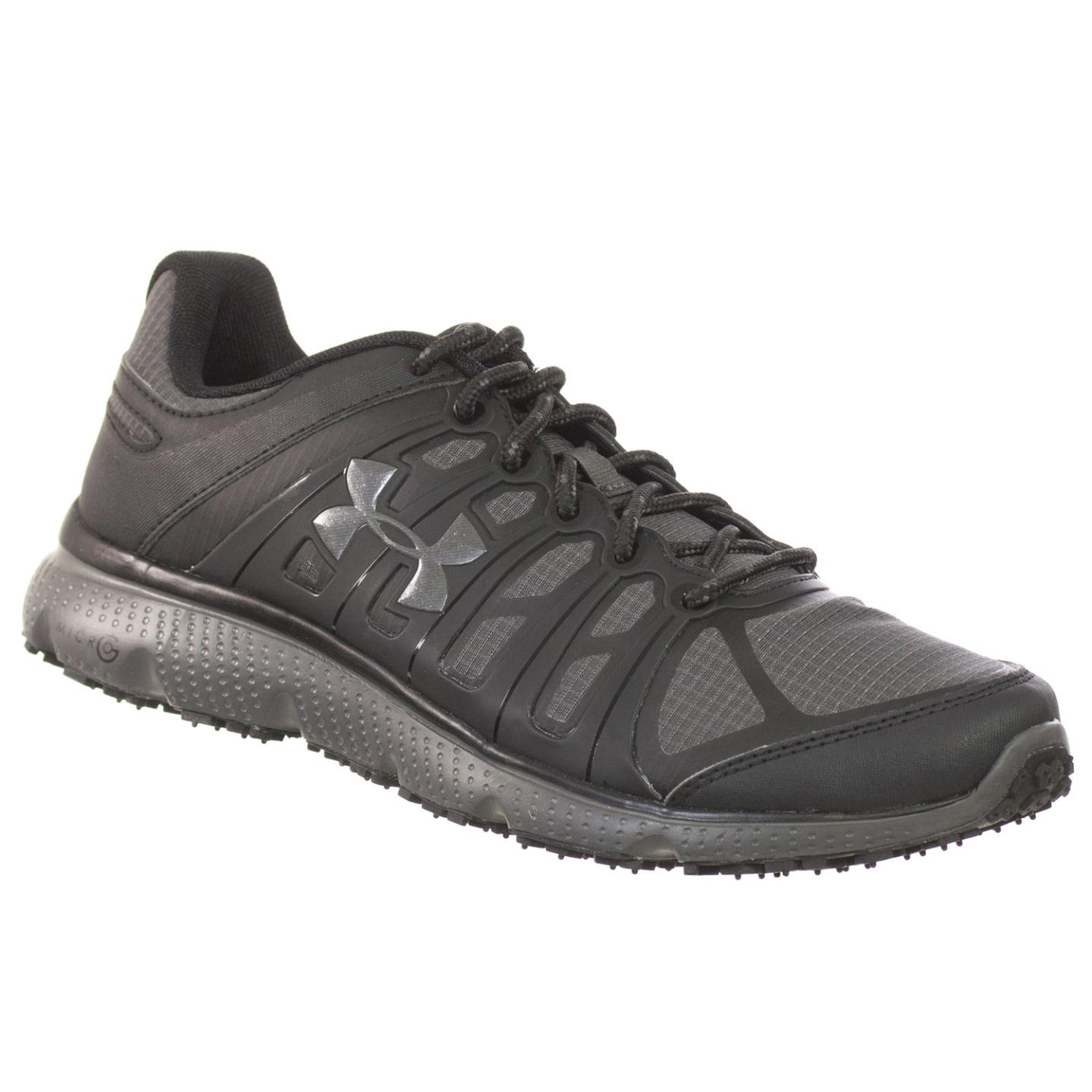 Under Armour MENS ATHLETIC SHOES MICRO G PULSE 2 GRIT BLA...