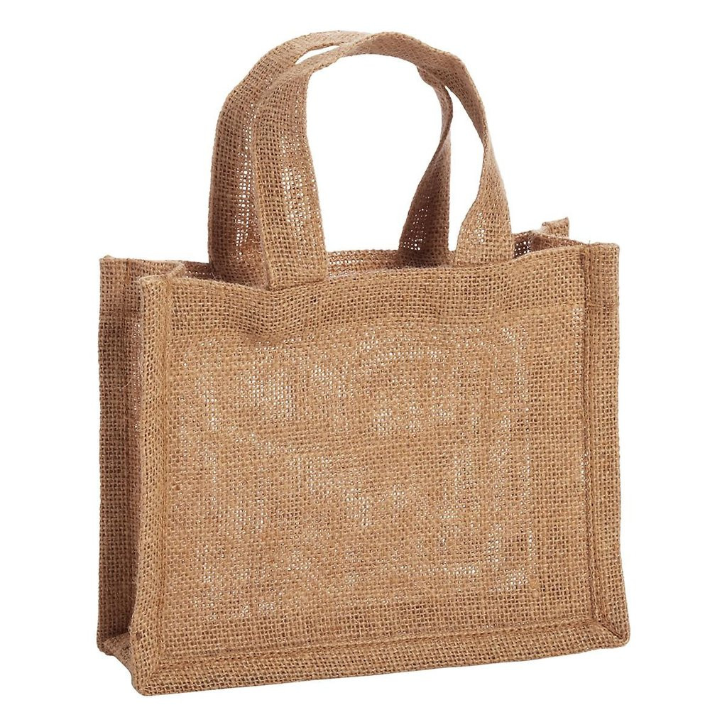 Party Favor mini Gift Bags 100% Jute Burlap Bags TJ767