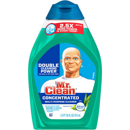 Mr. Clean Liquid Muscle Multi-Purpose Cleaner, Meadows & Rain with Febreze Freshness, 16oz.