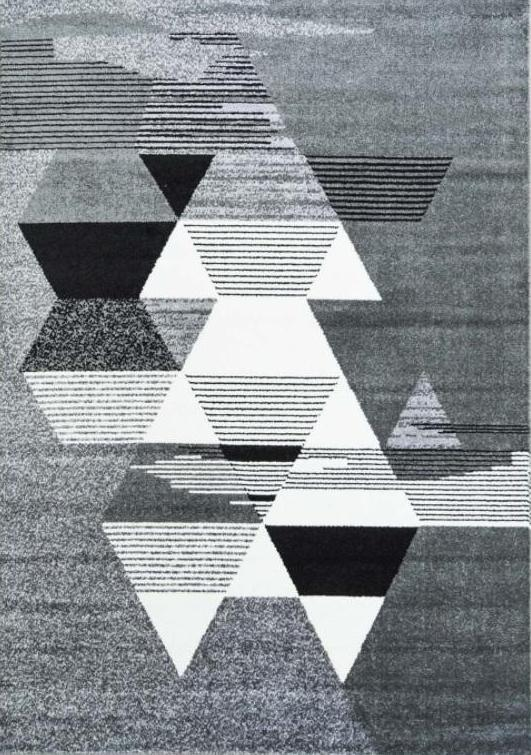 Ladole Rugs Monochromatic Triangles Pattern Modern Area Rug Carpet