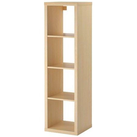 Ikea Kallax Bookcase Shelving Unit Display Birch Effect Brown Modern Shelf 38210 231726 1010