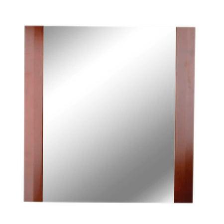 Bathroom Wall Mirror Square Cherry Oak Framed Renovator 39 S Supply