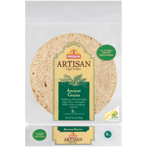 Mission Artisan Style Ancient Grains Tortillas, 8ct