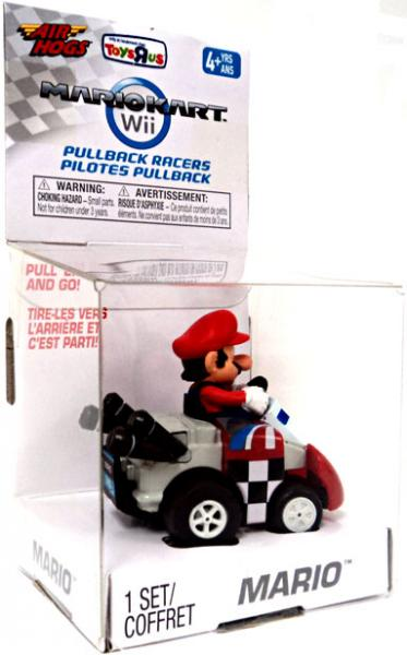 Super Mario Mario Kart Wii Air Hogs Pullback Racers Mario Exclusive Go-Kart by