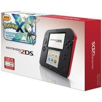 Refurbished Nintendo 2DS Crimson Red With Pre-Installed Pokemon X Game Handheld GVS700