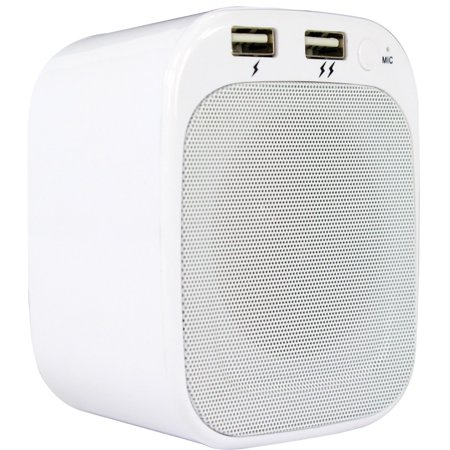 Lyrix Plug 'N Play Portable Bluetooth Wall Speaker, White