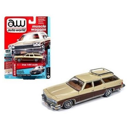 AUTO WORLD 1:64 PREMIUM 2018 RELEASE 4 VERSION A - 1975 BUICK ESTATE WAGON (SAND BEIGE)