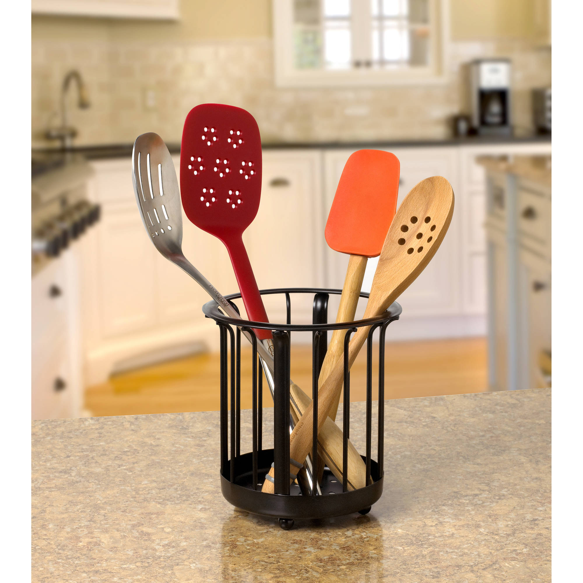 Spectrum Ashley Utensil Holder, Black