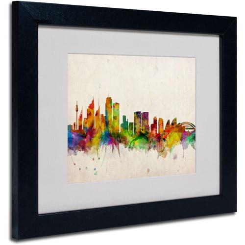 Trademark Art 'Sydney Skyline' Matted Framed Art by Michael Tompsett