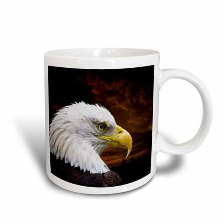 - 3dRose American Bald Eagle Art Home D?cor and Art, Ceramic Mug, 11-ounce