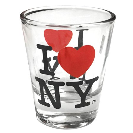 I Love New York Shot Glass, Officially Licensed I Heart NY Shot Glasses from NYC in Gift Box, 2.4 Inches Tall By (Cheap Glasses Nyc)