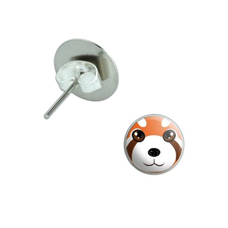 Red Panda - Zoo Animal Pierced Stud Earrings
