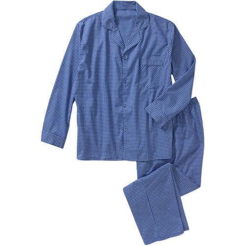Hanes Men's Woven Pajama Set - Walmart.com