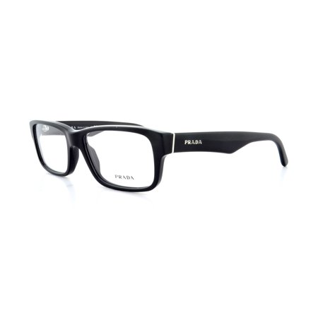 Prada 0PR 16MV Optical Full Rim Rectangle Unisex Eyeglasses - Size 53 (Gloss Black / Clear (Headliners Eyeglasses)