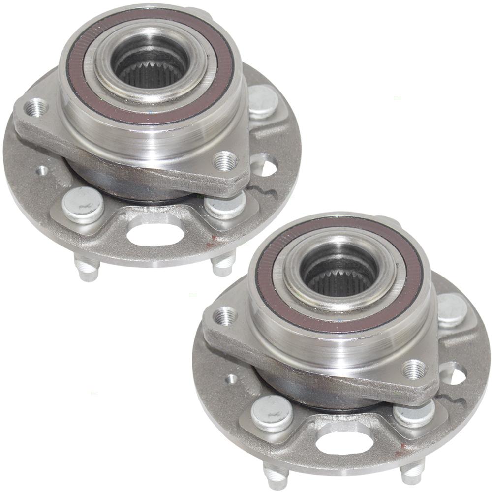 Pair Set Front Wheel Hub Bearings Replacement for Buick Chevrolet GMC Cadillac Saab 13589507 HA590486 513288
