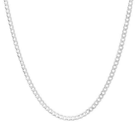 Authentic Solid Sterling Silver Cuban Curb Link .925 ITProLux Necklace Chains 2MM - 10.5MM, 16