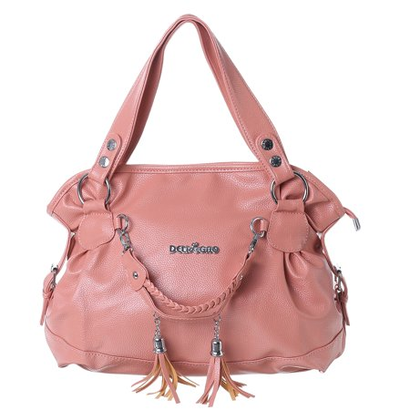 Leather Tassel Handbags For Women Shoulder Bag Purse Messenger Shopper Tote Bags