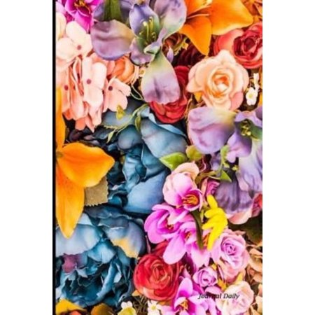 Journal Daily  Colorful Flowers  Lined Blank Journal Book  6 X 9  200 Pages  Notebook  Delivery For Writing
